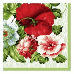 Dining Collection Lunch Napkins - Roses Are Red - 20 ct.