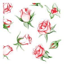 Dining Collection Lunch Napkins - Rose Explosion - 20 ct.