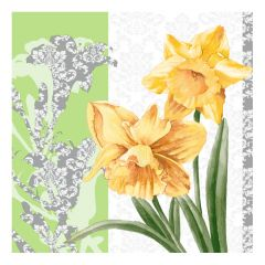 Dining Collection Lunch Napkins - Golden Blooms - 20 ct.