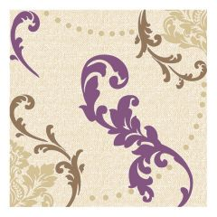 Dining Collection Lunch Napkins - Amethyst Fleur-de-lis - 20 ct.