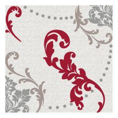 Dining Collection Lunch Napkins - Wine Fleur-de-lis - 20 ct.