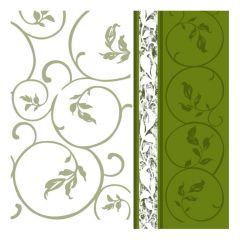 Dining Collection Lunch Napkins - Olive Curlicue - 20 ct.