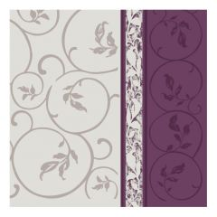 Dining Collection Lunch Napkins - Plum Curlicue - 20 ct.