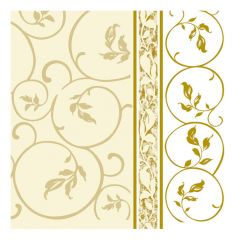 Dining Collection Lunch Napkins - Golden Curlicue 1 - 20 ct.