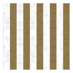 Dining Collection Lunch Napkins - Stripes of Gold - 20 ct.
