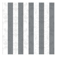 Dining Collection Lunch Napkins - Stripes of Silver - 20 ct.