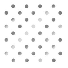 Dining Collection Lunch Napkins - Silver Polka Dots - 20 ct.