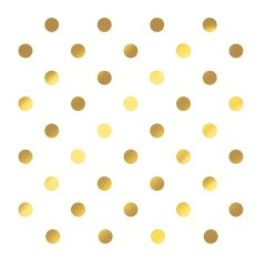 Dining Collection Lunch Napkins - Gold Polka Dots - 20 ct.