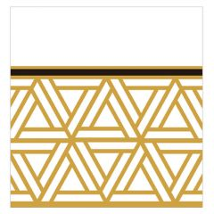 Dining Collection Lunch Napkins - Triangle Deco - 20 ct.