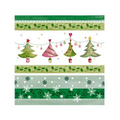 Christmas Cocktail Napkins - Merry & Bright Trees - 20 ct.