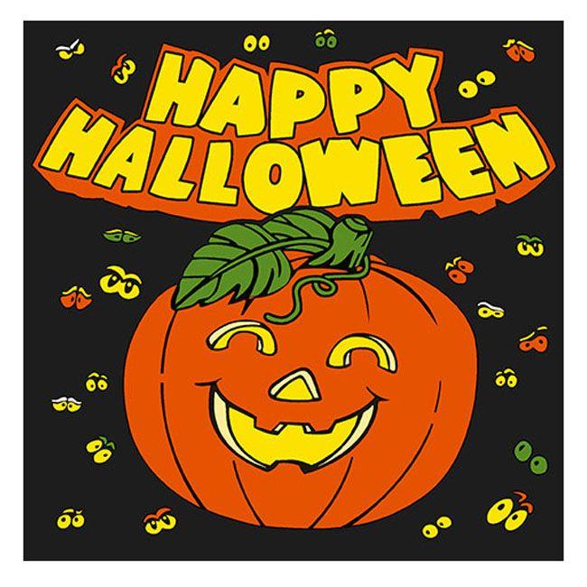Lunch Napkins Happy Halloween Pumpkin 20 Ct