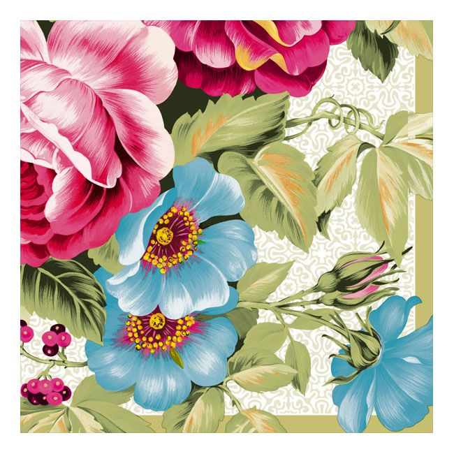 Dining Collection Lunch Napkins - Violets Are Blue - 20 ct.
