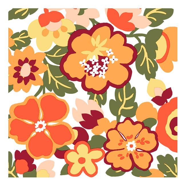 Dining Collection Lunch Napkins - Scattered Blossoms - 20 ct.