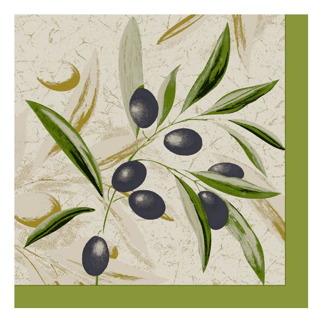 Dining Collection Lunch Napkins - The Olive Branch - 20 ct.