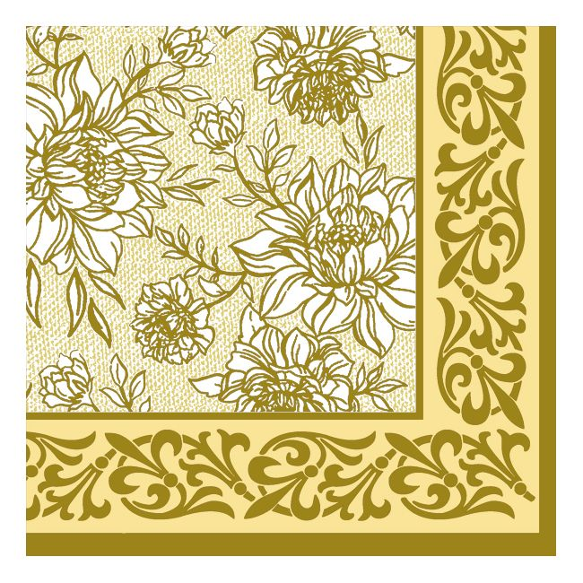 Dining Collection Lunch Napkins - Golden Peach Petal Pride - 20 ct.