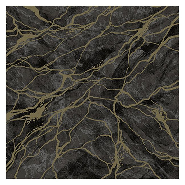 Dining Collection Lunch Napkins - Marble Black & Gold - 20 ct.