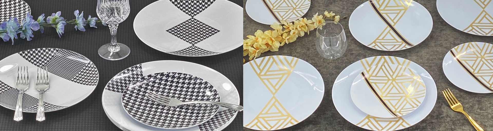 CoupeWare Houndstooth & Triangle Deco