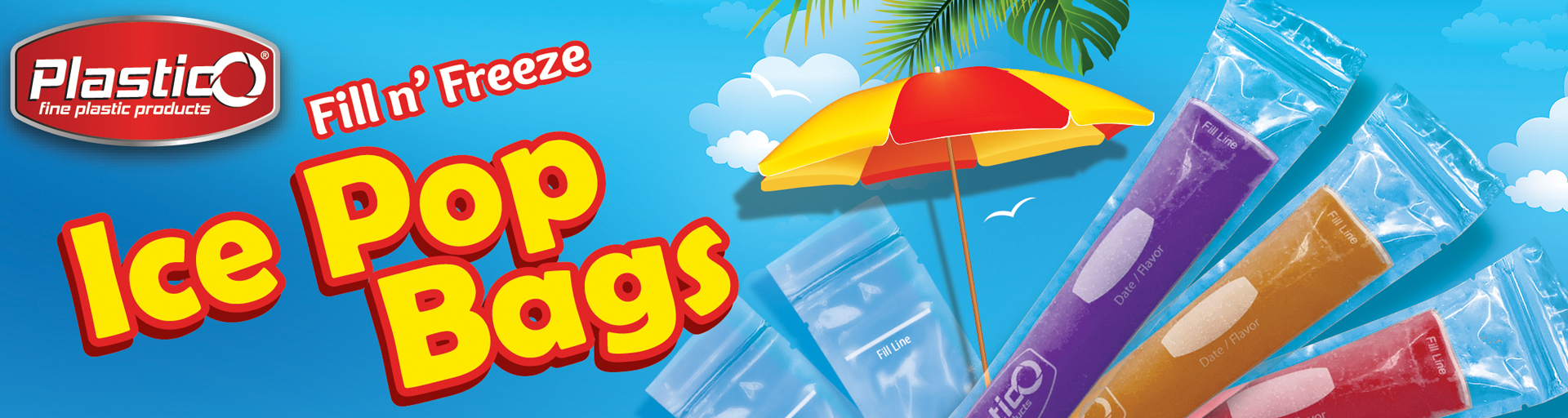 Plastico Ice Pop Bags