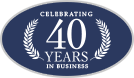 Celebrate 40 years in business